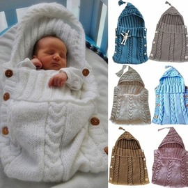 Simple Style Buttons Decoration Cotton Blends Baby Sleeping Bag
