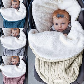 Simple Style Pure Color Acrylic Fibers Winter Baby Sleeping Bag