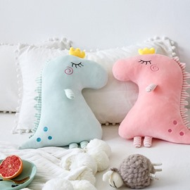 Creative Cute Dinosaur Shape Soft and Breathable Baby Throw Pillow
