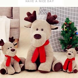 Cute Cartoon Christmas Deer Shape Soft and Breathable Plush Baby