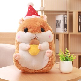 Yellow Cute Creative Hamster Soft and Breathable Plush Baby Toy And Blanket