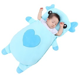 2 Color Cute Pig Shape Anti-Kicking Velvet Baby Sleeping Bag
