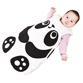 Cute Panda/Fox Shape Anti-Kicking Velvet Baby Sleeping Bag