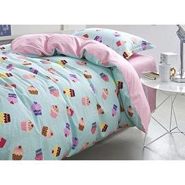 Magical Cupcake Pattern Kids Cotton 3-Piece Duvet Cover Sets