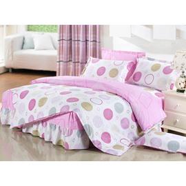 Simple Style Round Circle Pattern Cotton Kids 3-Piece Duvet Cover Sets