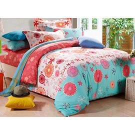 Memories of Elegance Floral Pattern Kids Cotton Duvet Cover Sets