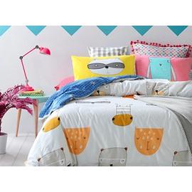 High Class Lovely Animals Pattern 4-Piece Cotton Duvet Cover Sets