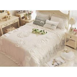Dreamy Princess Style Applique 4-Piece Cotton Duvet Cover Sets
