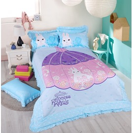 Princess Sisi Pattern Cotton Kids Duvet Cover/Bedding Sets
