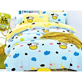 Super Cute Cow Print 3-Piece Cotton Duvet Cover Sets
