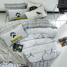 Nordic Style Cotton Gray Kids Duvet Covers/Bedding Sets