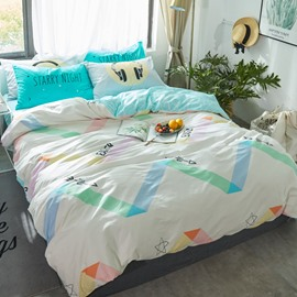 Arrows Printed Cotton White Kids Duvet Covers/Bedding Sets