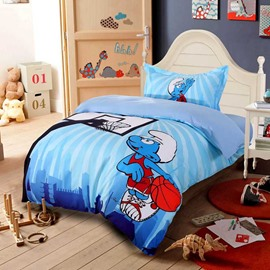 Smurf Playing Basketball 3-Piece Kids Bedding Sets/Duvet Covers