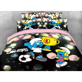 World Cup Soccer Champion Smurf Twin 3-Piece Kids Bedding Sets