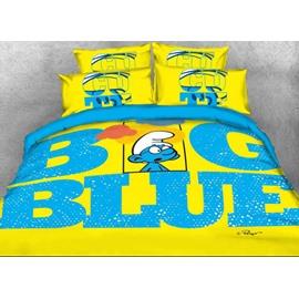 Brainy Smurf Big Blue World Twin 3-Piece Kids Bedding Sets/Duvet Covers