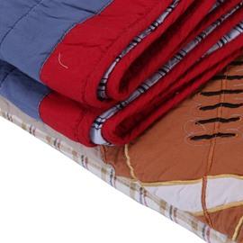 Football Patchwork 2 Pieces Cotton Duvet Cover Sets