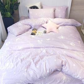 Cotton Cartoon Cute Giraffe Pattern Princess Style 4-Piece Girl Bedding Sets/Duvet Cover