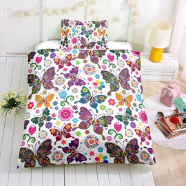 Colorful Butterflies Printed 2PC/3PC Bedding Sets/Duvet Covers