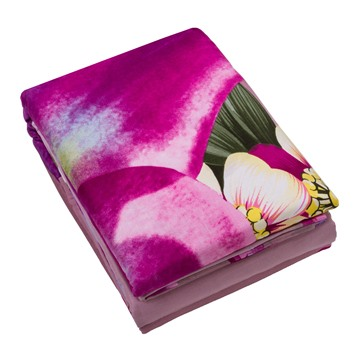 Pink Lily 3D Printed Cotton 4-Piece Bedding Sets/Duvet Covers