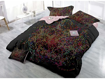 Colorful Polka Dots Circle Design 4-Piece Duvet Cover Sets