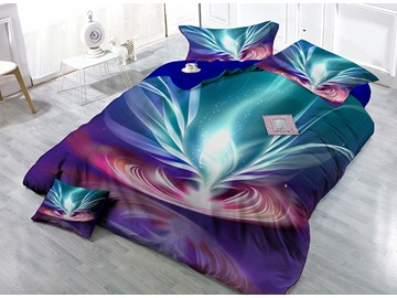 Abstract High-Definition Digital Printing Satin Drill 4-Piece Duvet Cover Sets