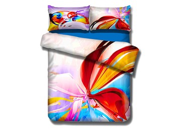Colorful Personality Pattern 4-Piece Cotton Duvet Cover Sets
