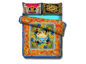 Amazing Toucan Print 4-Piece Cotton Duvet Cover Sets