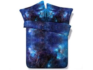 Gorgeous Shining Galaxy Print 5-Piece Comforter Sets