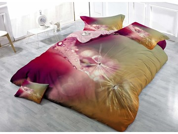 3D Dandelion and Dewdrop Printed 4-Pieces Bedding Sets/Duvet Covers