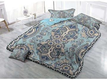 Jacquard Pattern Print Cotton 4-Piece Bedding Sets/Duvet Covers