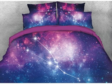 Onlwe 3D Galaxy Taurus Printed 4-Piece Bedding Sets/Duvet Covers