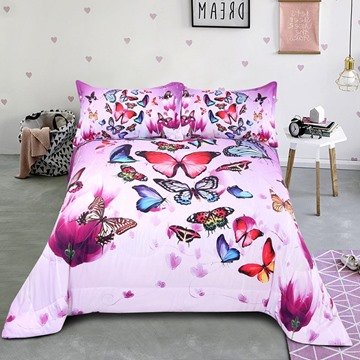 Animal Pattern Polyester Material Hand Wash Cleaning 3D Printing Technics Quilt