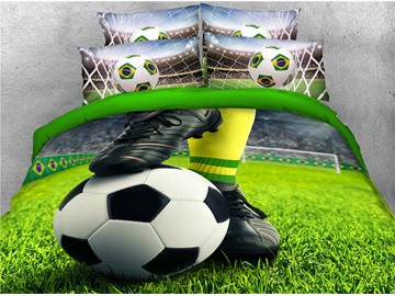 3D World Cup Group E Soccer Printed 4-Piece Bedding Sets/Duvet Covers