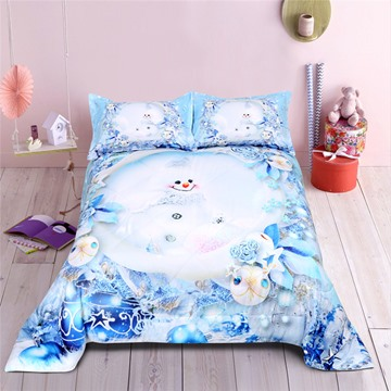 3D Smiley Face&Fish Design Printing Polyester Quilt