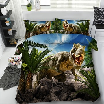 Tyrannosaurus Hide in Stone 3D Printing Polyester 4-Piece Bedding Sets/Duvet Cover