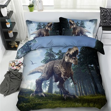 Tyrannosaurus Rex Polyester 3D Reactive Printing 4-Piece Bedding Sets/Duvet Cover