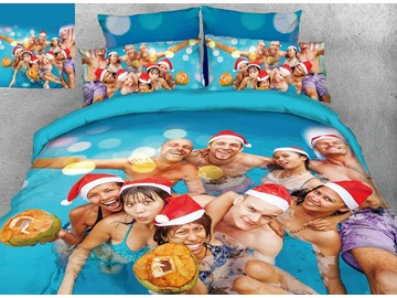 3D Custom Personal Picture Printing Cotton 4-Piece Bedding Sets/Duvet Covers