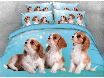 Vivilinen 3D Puppies Printed 5-Piece Comforter Sets
