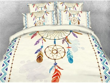 Bohemian Dream Catcher Printed 4-Piece 3D Bedding Sets/Duvet Covers