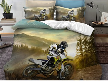 Fade Resistant and Anti-Allergic Phyester 3-Piece 3D Bedding Sets/Duvet Covers