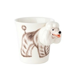 New Arrival Tempting Hand-painted 3D Ceramic Poodle Creative Mug