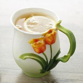 Creative Lovely 3D Tulip Ceramic Versatile Coffee Mug