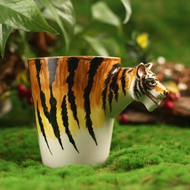 Amazing 3D Tiger Design Ceramic Coffee Mug