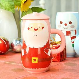 Christmas Theme Santa Claus and Snowman Ceramic Coffee Cup