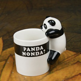 Wonderful 3D Panda on Edge Ceramic Coffee Mug
