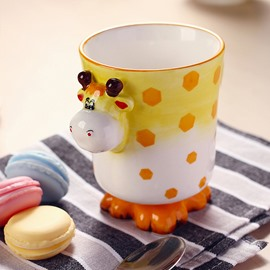 Cartoon 3D Giraffe Design Ceramic Coffee Mug