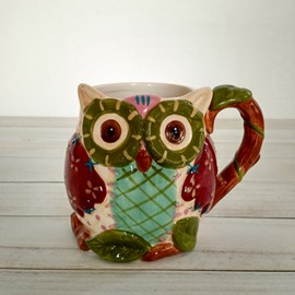 Wonderful 3D Owl Ceramic Beer Mug Coffee Mug