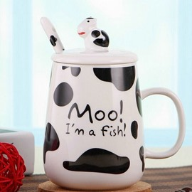 Creative Cow Pattern Ceramic Coffee Milk Cup