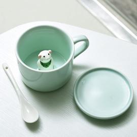 Cute 3D Animal Cartoon Ceramics Cup