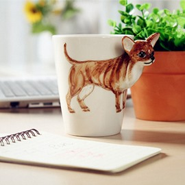 Lovely Chihuahua Design Ceramic Hand Painting Cup